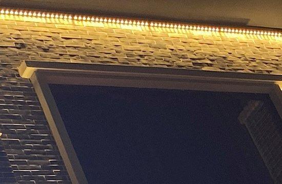商业街道楼体配大功率led洗墙灯安装效果图